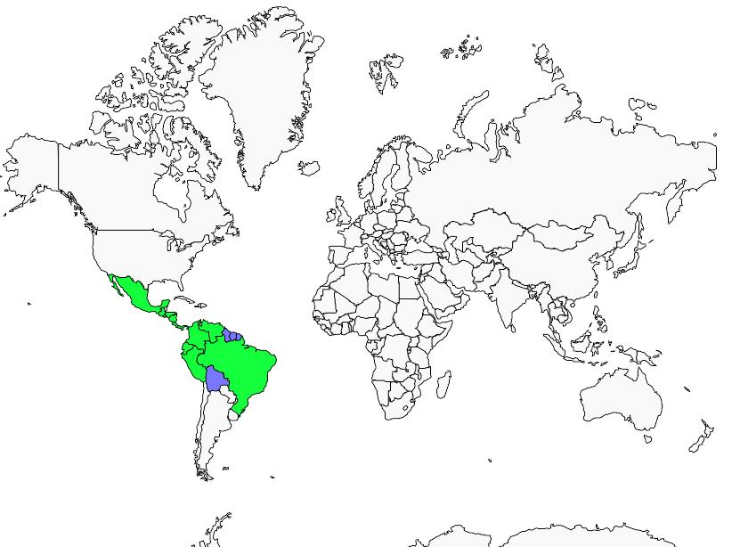 Carte de distribution de Anabate rubigineux