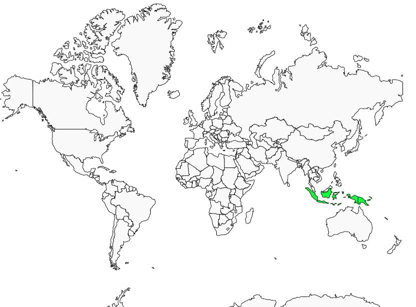 Carte de distribution de Androphobe vert