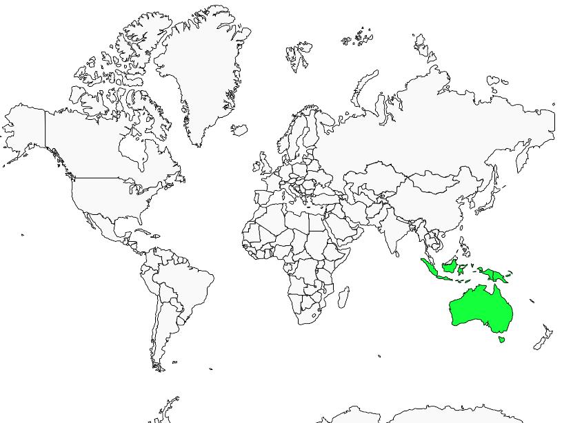 Carte de distribution de Anserelle élégante