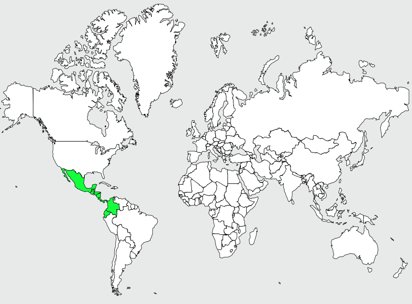 Carte de distribution de Aulia tacheté
