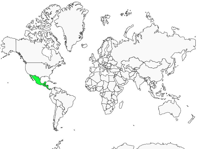 Carte de distribution de Violet Sabrewing
