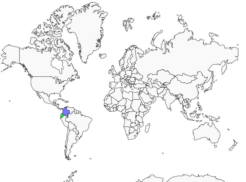 Carte de distribution de Colibri du Chimborazo