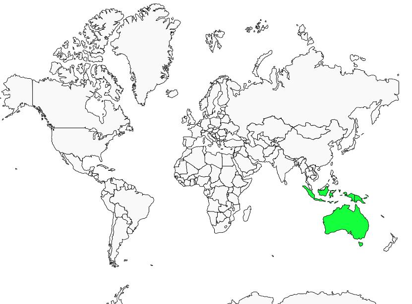 Brolga : Geographic range
