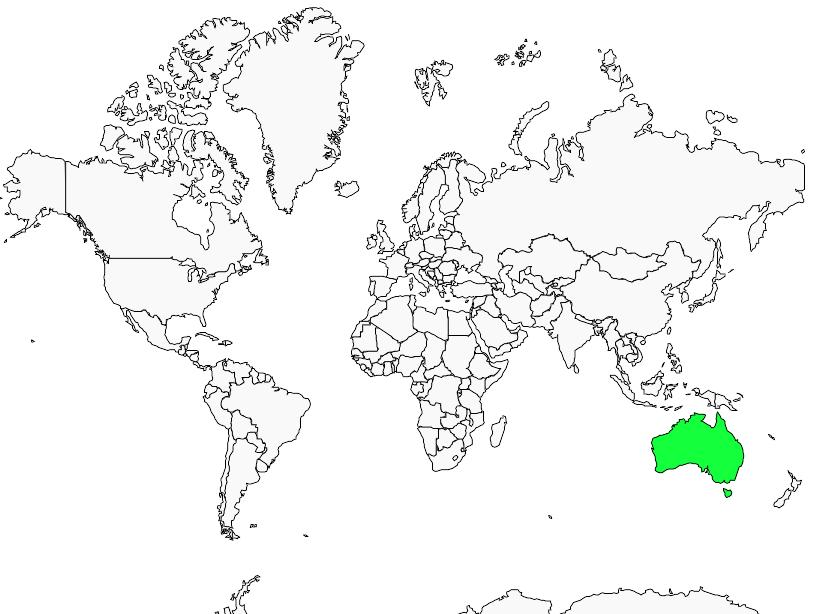 Carte de distribution de Mérion à dos rouge