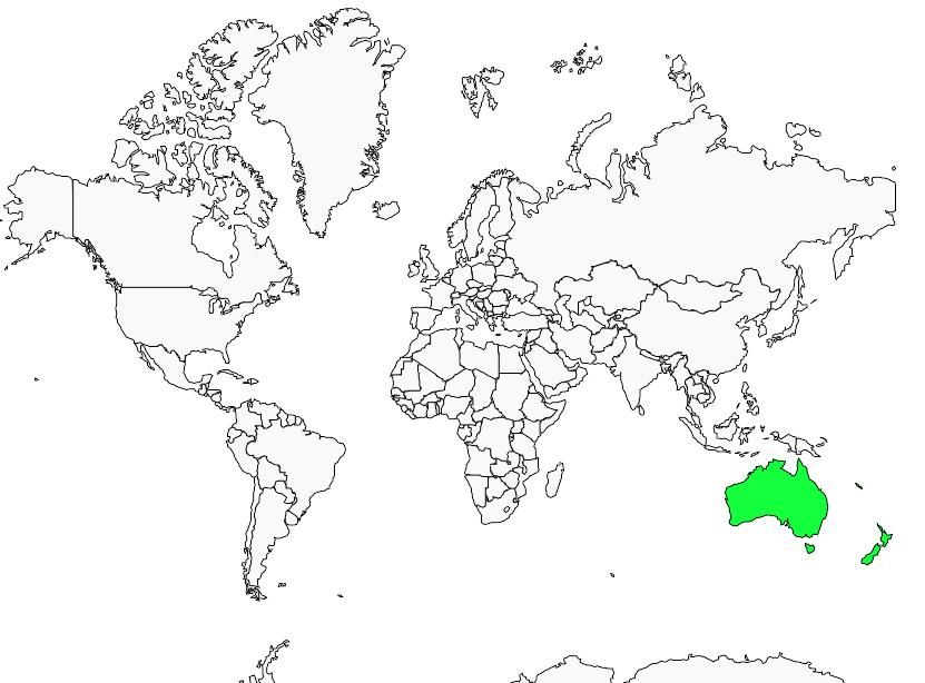 Carte de distribution de Sterne néréis