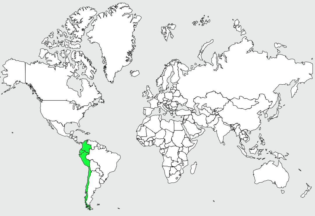 Carte de distribution de Peruvian Meadowlark