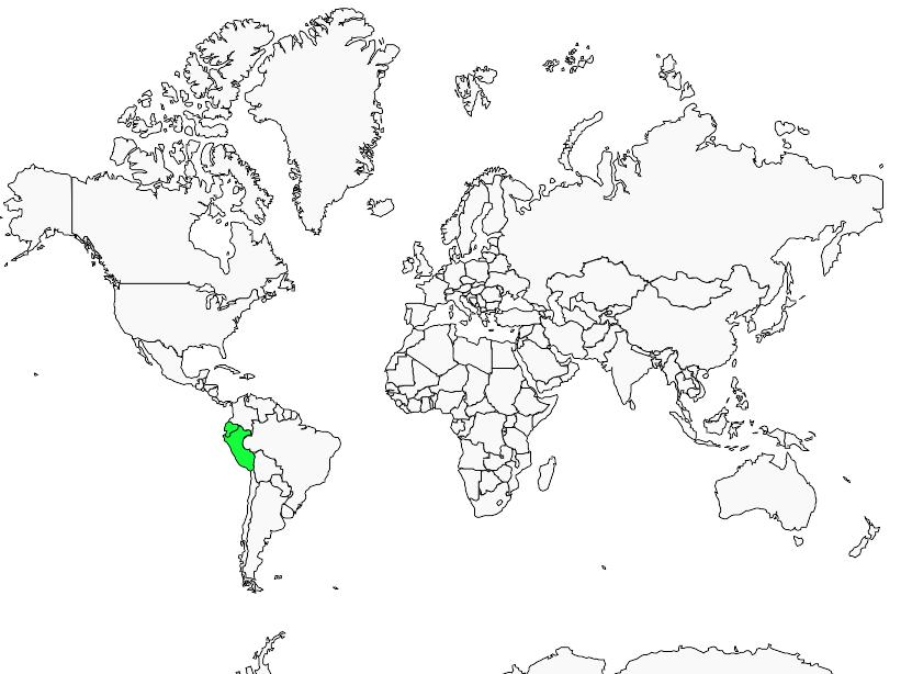 Carte de distribution de Taurillon à cimier noir