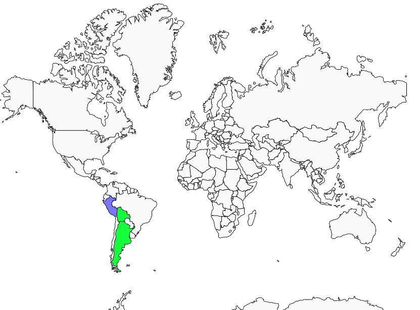 Carte de distribution de Tohi à tête rayée